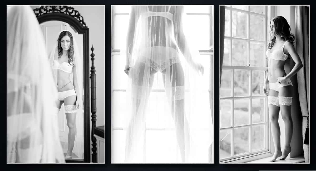 Black and white Bridal boudoir photography Essex 90