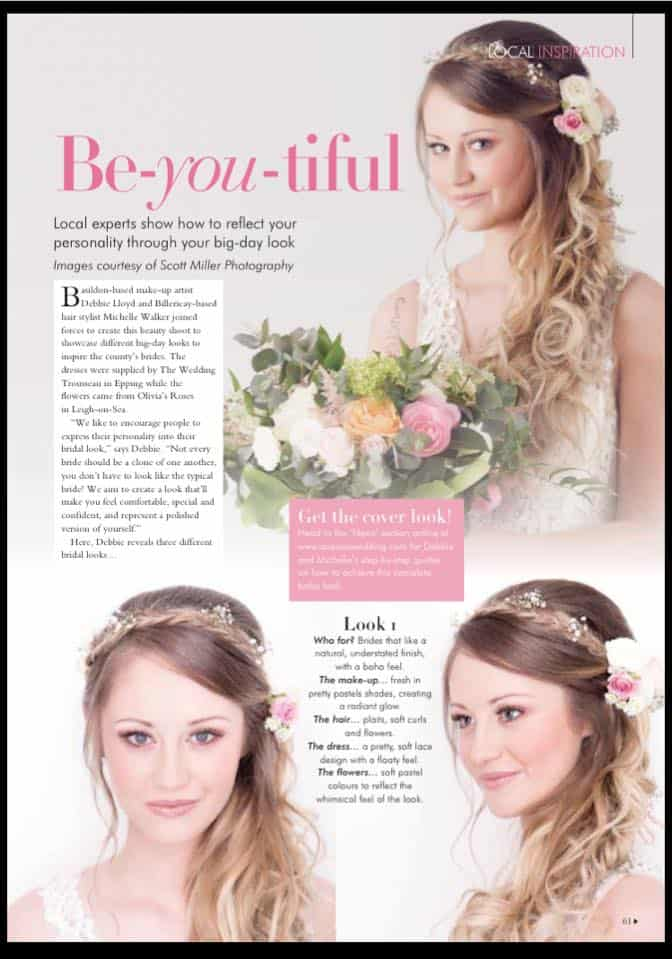Latest bridal hair and makeup styles - Scott Miller photography 12