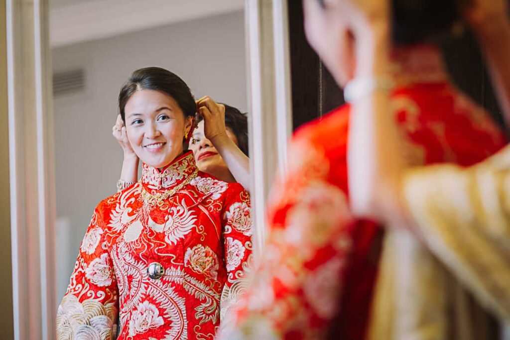 Chinese wedding ceremony at the Shard London